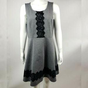 MAURICES Gray Lace Dress XL